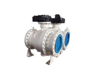 3 Piece Trunnion Mounted Ball Valve Soft Seated Convenient Maintenance